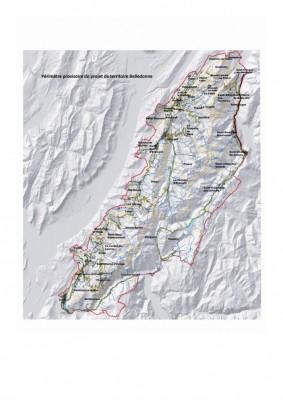 Carte en r en relief du Parc Naturel Régional de Belledonne
