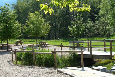 Espace aménagé à la source des Fontaines