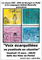 Affiche du spectacle de l'école du Bourget en Huile