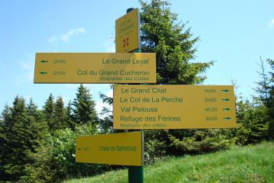 Panneaux au Col du Champet
