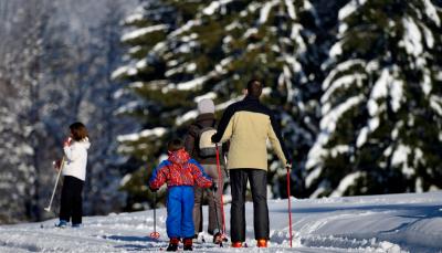 Ski de fond au Bourget en Huile