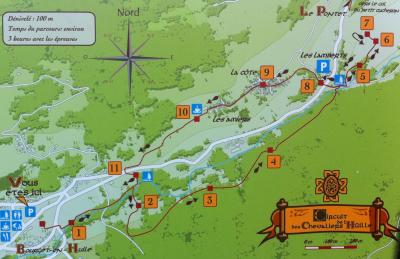 Plan du sentier des chevaliers de l'Hüille