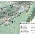 Plan des sentiers de raquettes au Bourget en Huile