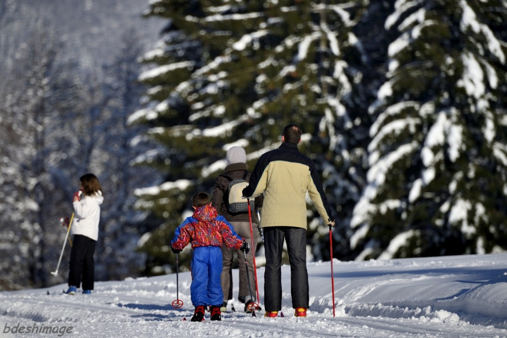Ski de fond en famille au Bourget en Huile