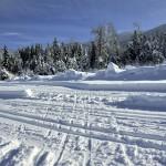 Croisement de pistes de ski au Bourget en Huile