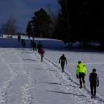 Trailers dans champ de neige au bourget en huile