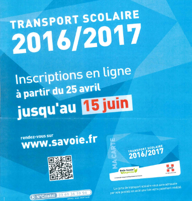 affiche transport scolaire 2016 2017 savoie