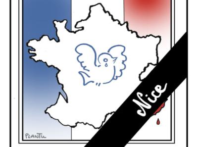 hommage des habitants du Bourget en Huile aux victilmes de Nice
