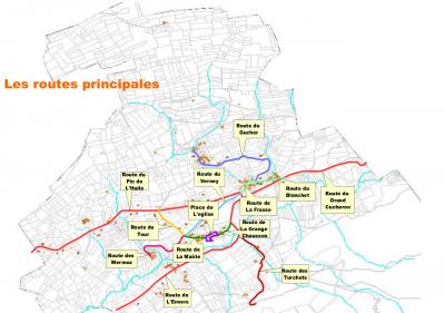 Plan projet adressage Bourget en Huile