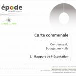 miniature visuel du rapport de presentation de la carte communale du Bourget en Huile