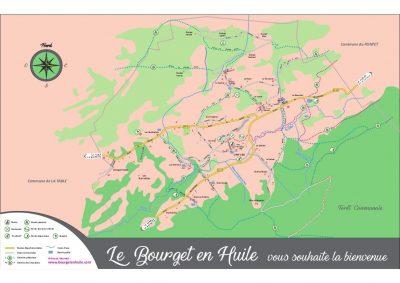 plan du Bourget en Huile